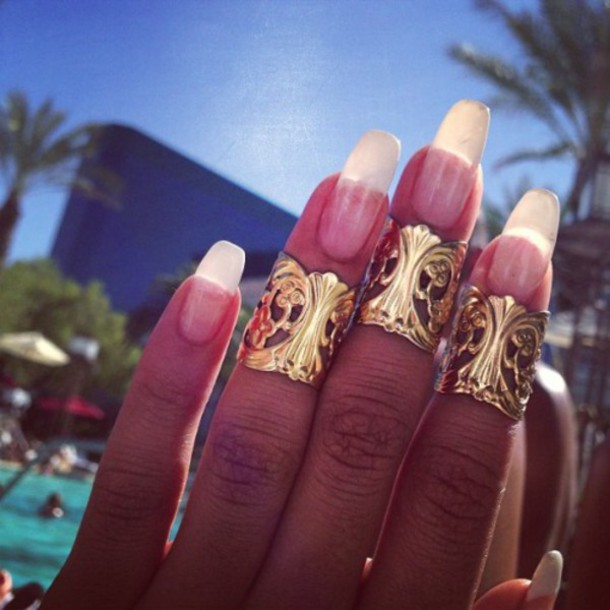 jewels ring nails beaty