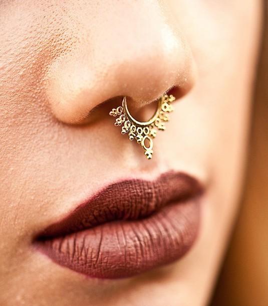 jewels nose ring gold nose ring septum piercing septum nose