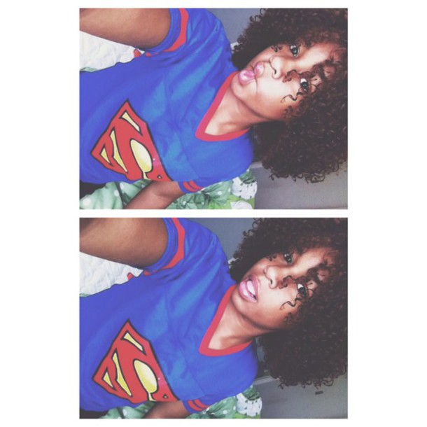 superman jersey curly hair curly hair graphic tee t-shirt marvel shirt