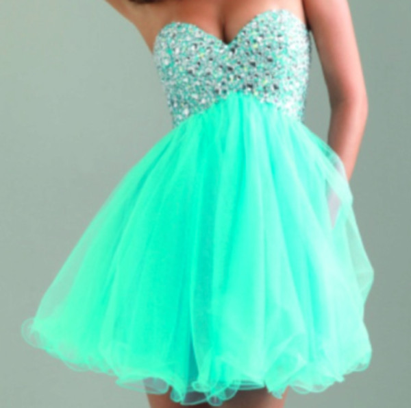 Turquoise or Black A-line Short Fully Beaded Sweetheart Bodice ...