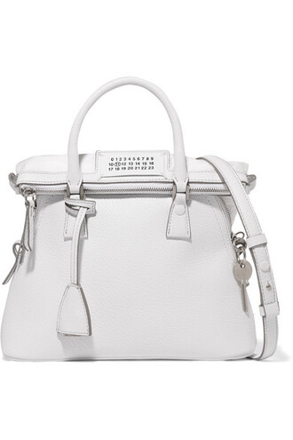 baby leather white bag