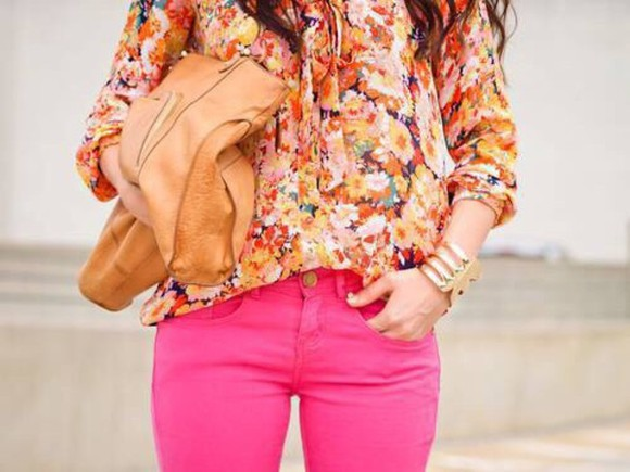 blouse orange blouse pink spring summer 2014 summer outfits spring spring fashion floral orange love more fashion a&f smiles cute helps beautiful heart beauty spring 2014 air max cheap money shops store swimwear sunflower flower power flower crown pink flowers