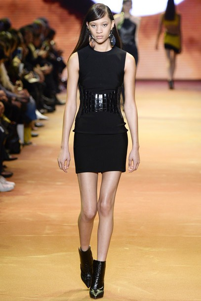 Black dress short boots