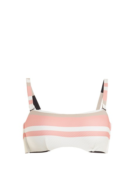 bikini striped bikini bikini top cream swimwear
