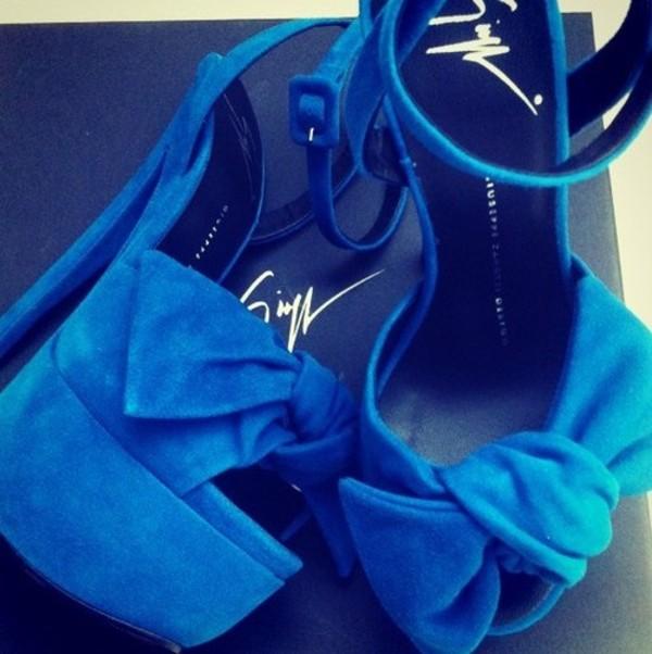 shoes heels blue