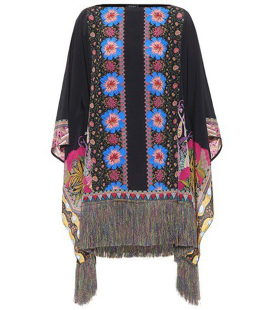 ETRO poncho silk top