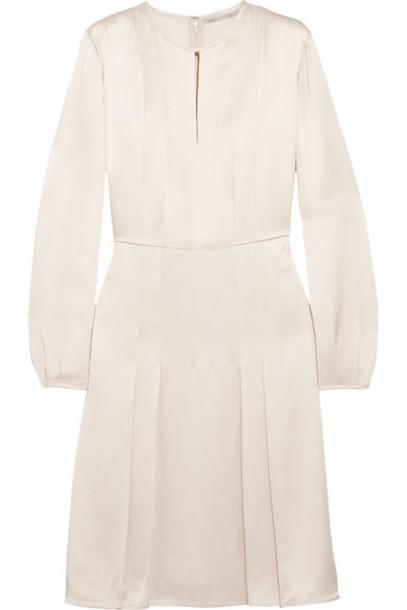 Stella McCartney dress satin dress pleated satin