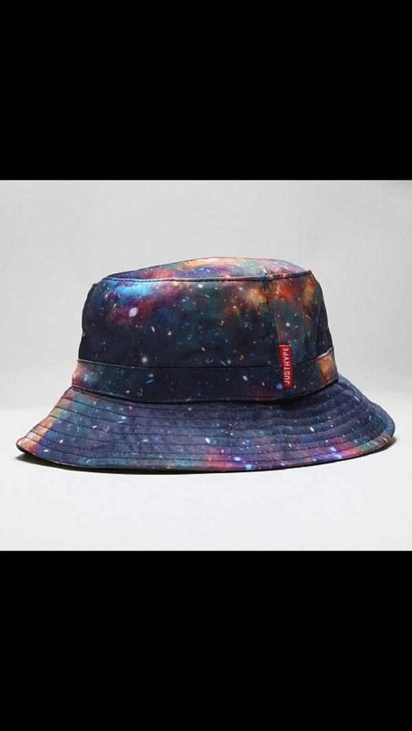 hat galaxy print