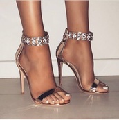 shoes,golden heeled sandals,gold,high heel sandals,gold shoes