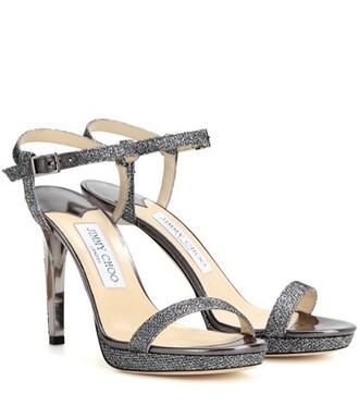 glitter 100 sandals grey shoes
