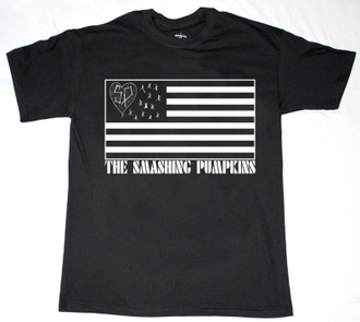 t-shirt zeitgeist billy corgan black american flag us united states sp flag heart stars smashing pumpkins
