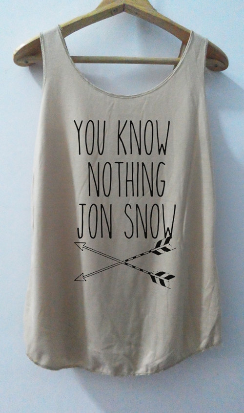 Vous savez rien de Jon Snow chemises Tank top par vintageartshirt