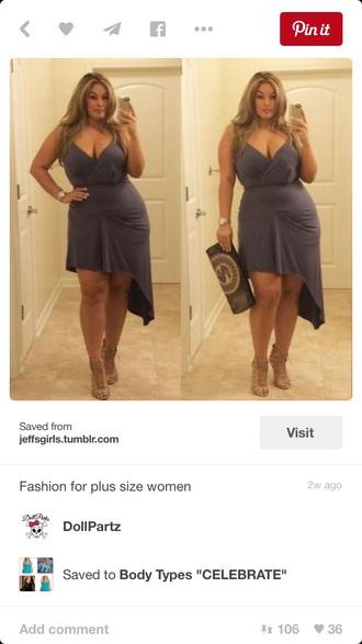dress sexy plus size dress plus size grey dress
