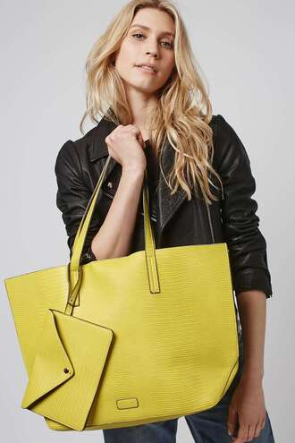 bag leather leather bag yellow snake skin