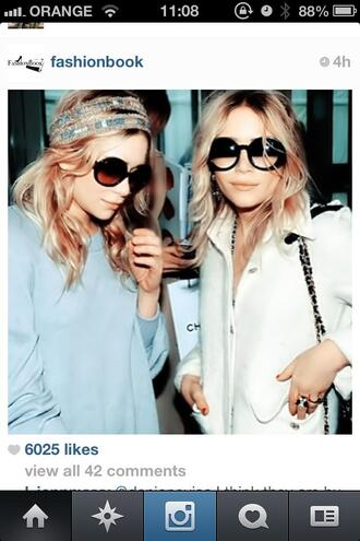 sunglasses chanel inspired black and white mary kate olsen ashley olsen olsen hat