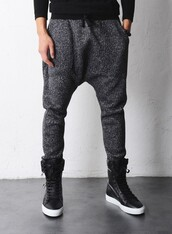 pants,grey,harem,shoes,menswear,mens shoes,dress,gray pants,sweatpants,grey sweatpants,sweats,drop crotch pants,justin bieber,style