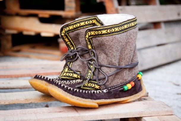 shoes yuketen alaskan cree winter boots native american suede wool
