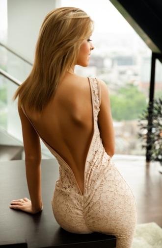 dress open back dress in love beige dress long dress she squats bro