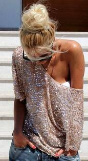top,nude,beige,cotton,sequins,gold,gold sequins,sexy,sexy top,sparkle,sparkly top,pailette,sexy nude top,casual,casual t-shirt,jeans top,off the shoulder,off the shoulder top,short sleeve,loose,loose top,lookbook,loose shirt,loose blouse,overized,oversized sweater,oversized blouse,fashion,fashion toast,asos,fashion vibe,american apparel,american style,fashion is a playground,fashion inspo,fashion coolture,fashionista,a fashionista,preppy top,preppy jeans,jeans,pretty,cute,coll,hot,street,streetwear,streetstyle,urban,urban outfitters,girly,girly wishlist,style,stylish,style scrapbook,look,celebrity,clubwear,party,moraki,blouse,dress,28719,t-shirt,tank top