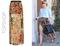 Julianne hough's topshop double slit floral maxi skirt
