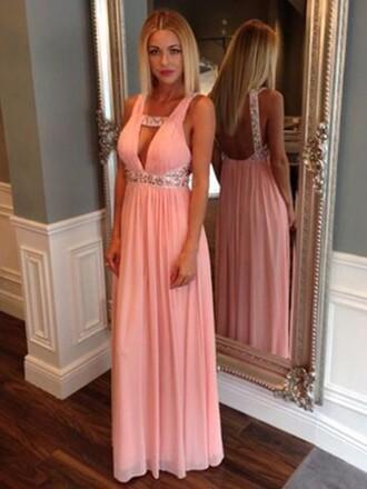 red dress long dress pink dress v neck dress pink evening dress long prom dress sexy prom dress maxi coral gown vanessawu maxi dress