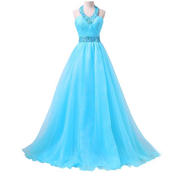 dress, prom, prom dress, fashion, bridesmaid, long dress, blue, blue ...