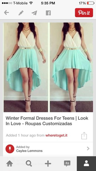 blue skirt winter dance white top dress blue dress