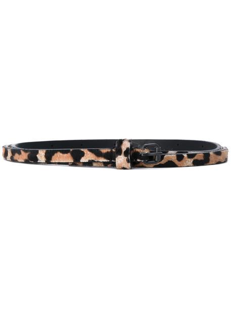 belt nude print leopard print