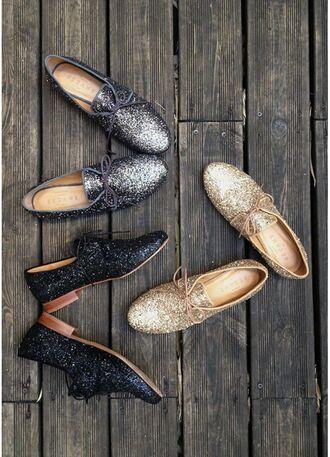 shoes sezane silver sparkle sézane glitter