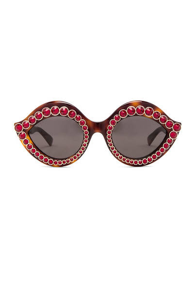 Gucci Cat Eye Crystal Sunglasses in brown
