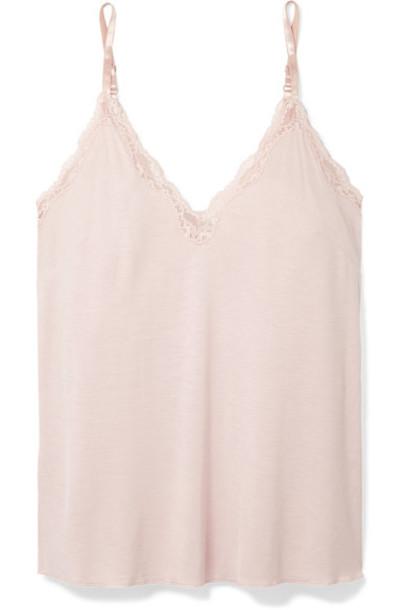 Skin top pastel lace pink pastel pink