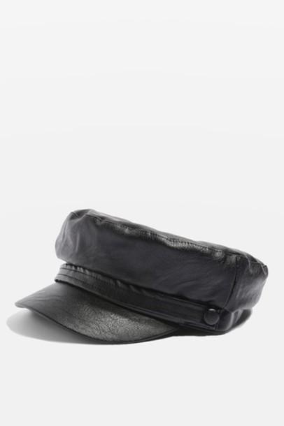 Topshop hat black