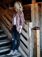 happily grey,blogger,jacket,t-shirt,belt,shoes,ankle boots,jeans,tumblr,top,white top,denim,blue jeans,ripped jeans,boots,grey boots,flat boots,fall outfits