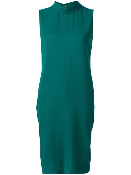 MAISON MARGIELA dress sleeveless dress sleeveless high women high neck wool green