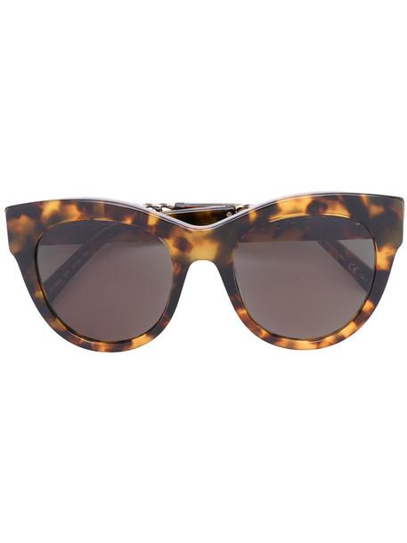 Stella Mccartney Eyewear - cat-eye sunglasses - women - Acetate/metal - 51, Brown, Acetate/metal