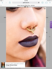 jewels,septum piercing,septums,accessories,fake septums,jewelry,nose ring,gold septums,faux septum,faux septum ring