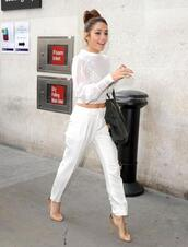 shirt,shoes,pants,blouse,white,bag,ring,clothes,high heels,vanessa hudgens,jeans