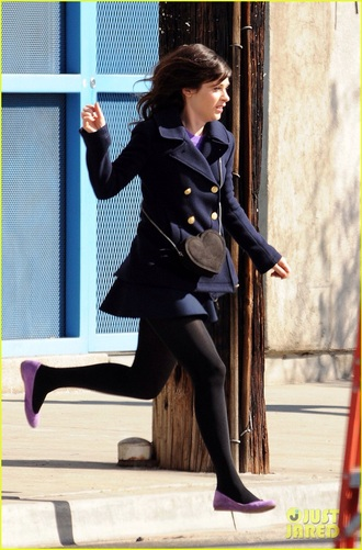 zooey deschanel new girl outfit winter coat