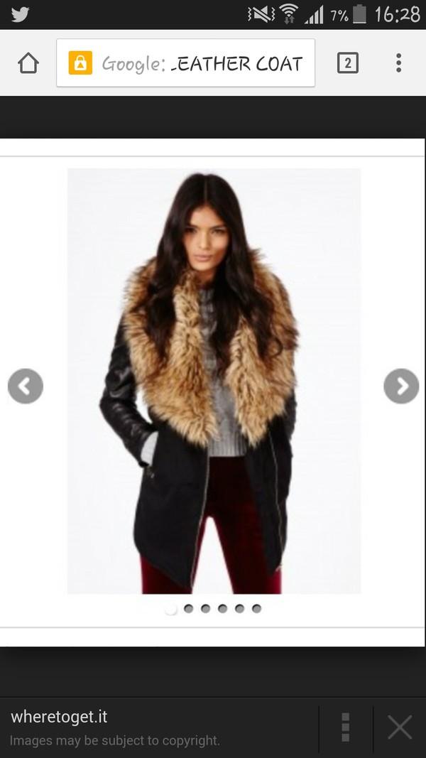 coat black coat ax paris long sleeves