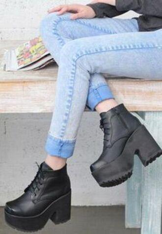 platform shoes chunky heels chunky sole platform boots chunky boots chunky platform cleated sole shoes grunge shoes