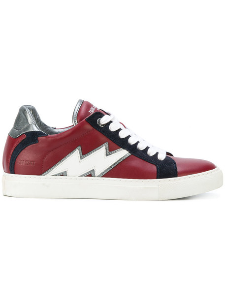 Zadig & Voltaire women sneakers leather red shoes