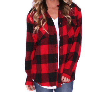 sweater red flannel shirt