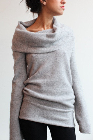 Souchi - Luxury Cashmere Sweaters, Dresses, Skirts, and Bikinis by Suzi Johnson - souchi web exclusive patrizia cashmere cowl neck sweater on Wanelo