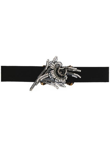 No21 women embellished belt cotton black