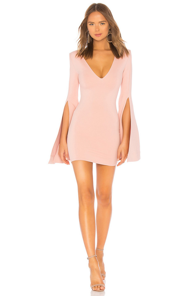 Michael Costello x REVOLVE Moseley Mini Dress in rose