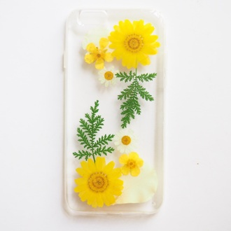 phone cover summer summer handcraft iphone cute flowers daisy yellow iphone cover gift ideas girlfirend gift