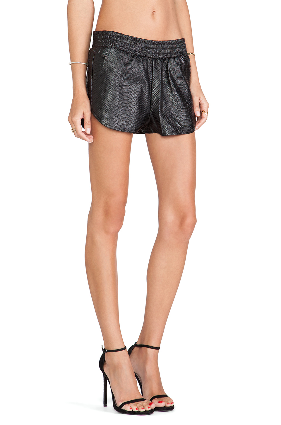 Lovers   friends soccer short in black crocodile from revolveclothing.com