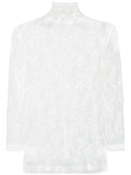 vest sheer women lace white cotton jacket