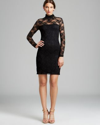 Karen Kane Lace Turtleneck Dress | Bloomingdale's