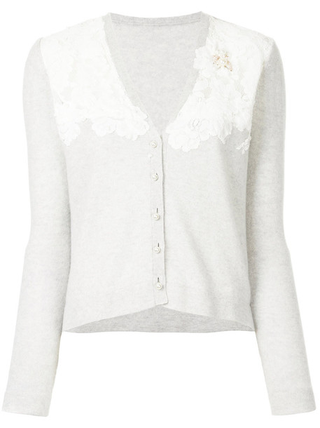 cardigan cardigan women lace floral grey sweater
